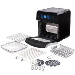 16-in-1 Electric Air Fryer Oven 13 QT 1600W XL with Rotisserie and Dehydrator Kit