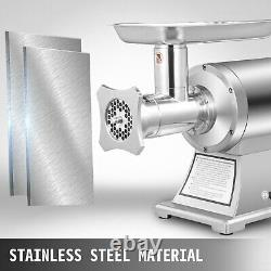 1.5HP Meat Grinder Stainless Steel 220 RPM Electric Commercial Sausage Stuffer