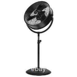 20 Pedestal Fan Adjustable 3-Speed Control Standing Fan Floor Shop Garage Black