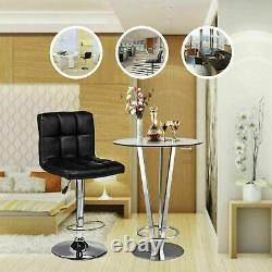2 PCS Adjustable Bar Stools Counter Height PU Leather Barstool Swivel Pub Chairs
