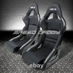 2 X Nrg Bucket Racing Seats Fiber Glass/steel+adjuster Mounting Bracket+cushion