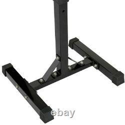 2pcs Adjustable Squat Rack Bench Press Power Weight Rack Barbell Stand Gym Home