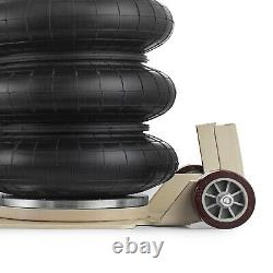 3 Ton Triple Bag Air Pneumatic Jack 6600 lbs Quick Heavy Duty Compressed Air