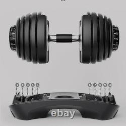52.5lbs Dumbbell Adjustable Weight Men's Fitness Equipment 30day