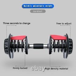 52.5lbs Dumbbell Adjustable Weight Men's Fitness Equipment P1