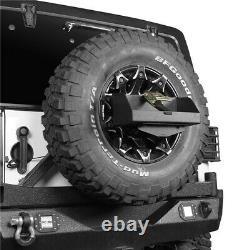 5.3 Gal Jerry Can Spare Tire Fuel Holder Rack For Jeep Wrangler Tj Jk Jl 97-21