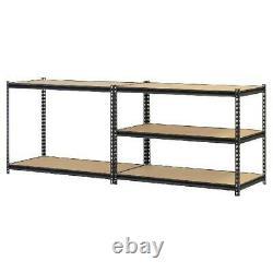 5 Shelf Heavy Duty Metal Muscle Rack Garage Shelving Storage 48W x 24D x 72H