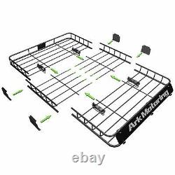 64 Roof Rack Cargo Carrier Luggage Basket Extension with Cargo Net + Strap