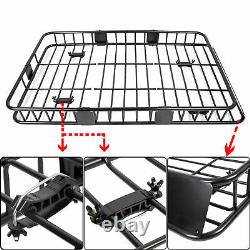 64 Roof Rack Cargo Top Luggage Holder Carrier Basket with Extension Travel