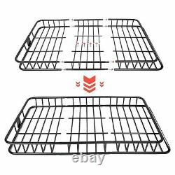 64'' Universal Roof Rack Basket withExtension SUV Top Cargo Luggage Carrier Holder