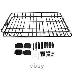 64'' Universal Roof Rack withExtension Cargo SUV Top Luggage Carrier Basket Holder