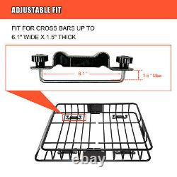 64'' Universal Roof Top Rack Cargo Carrier Basket withExtension SUV Luggage Holder