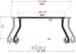 800LB Extendable Non-Drilling Sport Bar Rooftop Tent Pickup Truck Rack 2 Bar Set