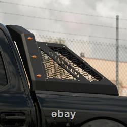 ACS Adjustable Steel Chase Rack Roll Bar For Pickup Truck Bed+LED+Lights Matte