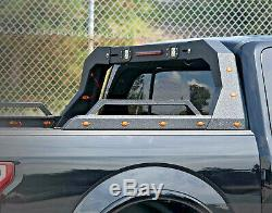 ACS Adjustable Steel Chase Rack Roll Bar For Truck Bed Side Rails withLED Matte