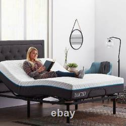 ADJUSTABLE BED FRAME Base Electric with Remote Metal Queen Size Bedroom Furniture