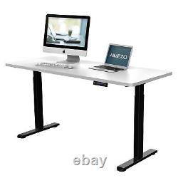 AIMEZO Stand UP Desk Electric Height Adjustable Standing Desk Frame Home Office