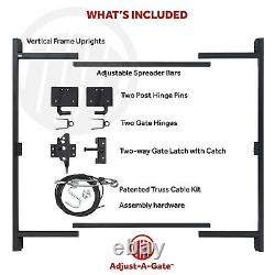 Adjust-A-Gate Steel Frame Gate Building Kit, 60-96 Wide Opening Up To 6' High