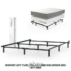 Adjustable Bed Frame Twin Full Queen Size Metal Box Spring Mattress Foundation