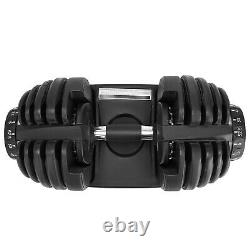 Adjustable Dumbbell 1090 Fitness Strength Training Workout Single Select 90lbs