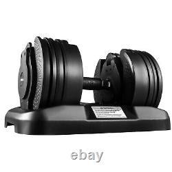 Adjustable Dumbbell Select Dumbbells Syncs 45LB Training Fitness Workout Single