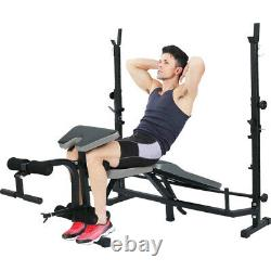 Adjustable Dumbbell Weight Bench with Leg Developer Multifunctional Workout Stat