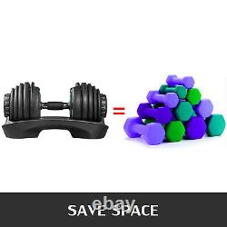 Adjustable Dumbbell Weight Select 552 Fitness Workout Gym Dumbbells Single Syncs