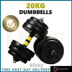 Adjustable Dumbbells 30KG 20KG Weights Barbell Set Dumbells Exercise Fitness Gym