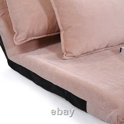 Adjustable Folding Leisure Sofa Bed Video Gaming Sofa Lounge Couch with 2 Pillows