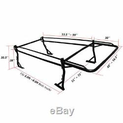 Adjustable Full Size Pickup Truck Utility Lumber Ladder Racks with 30'' Over-Cab