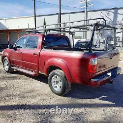 Adjustable Pickup Truck Heavy Duty 1000LB Contractor Ladder Lumber Pipe Rack