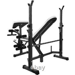 Adjustable Weight Lifting Bench Combo Fitness 660lb Home Gym Bench Rack Workout