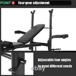 Adjustable Weight Lifting Bench Combo Fitness Home Gym Bench Rack Workout NEW