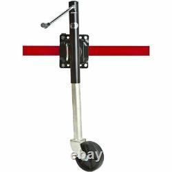 Apex TR10-01 Heavy Duty Adjustable Swing-Up Swivel Wheel Trailer Tongue Jack
