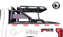 Black Horse Fits 00-19 Ram 1500 2500 3500 Roll Bar bed cargo rack Head WRB-001BK