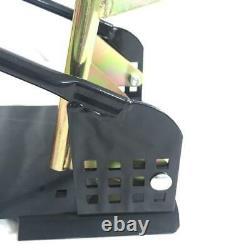 Black Motorcycle Wheel Tire Chock Nest Cradle Stand Adjustable Steel New