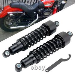 Black Rear Shocks 11.75 For Harley Sportster FXR Super Glide Iron XL 883 1200