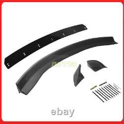 Black Rear Trunk Spoiler Wing For Chevy Camaro 16-19 Wickerbill Extension Style