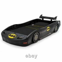 Boys Batman's Batmobile Car Twin Plastic Toddler Race Car Bed Kid Child Bedroom
