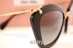 Brand New Miu Miu Sunglasses MU 10N 10NS 1AB3M1 BLACK/GREY Women 100% Authentic