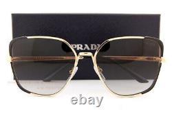 Brand New Prada Sunglasses PR 60XS AAV 0A7 Black Gold/Grey Gradient For Women
