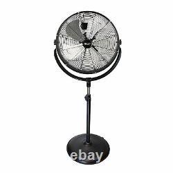 Comfort Zone CZHVP20S 20-Inch 3 Speed 180-Degree Adjustable Drum Fan, Black