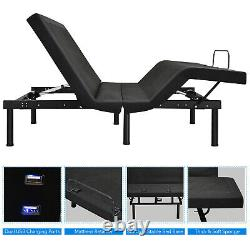 Costway Adjustable Bed Base Electric Bed Frame with Massage Remote Control Queen