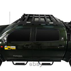 Crewmax Roof Luggage Carrier Baggage Rack Steel For Toyota Tundra 2007-2013