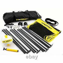 Crossnet 4 Way Adjustable Volleyball Net and Volleyball Game Set (Open Box)