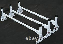 Cube/Box Truck / Enclosed Trailer 3pc Black Side Mount Ladder Rack 84 87