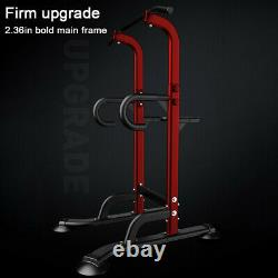 Dip Station Power Tower Pull Up Bar Strength Training Workout Equipment Home Gym