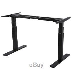 Dual motor Height Adjustable Desk Stand Up Table Electric Touch Control