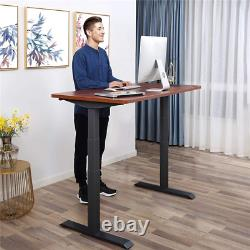 Electric Stand Up Desk Frame Height Adjustable With Dual Motor Touch Screen New