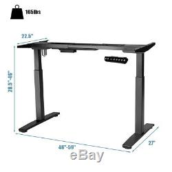 Electric Stand Up Desk Frame Single Motor Height Adjustable with Controller Black